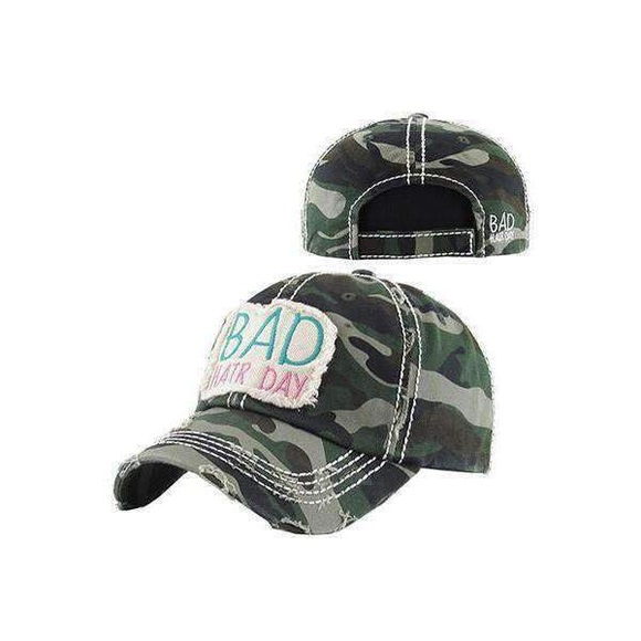 5c3ee595ecf Bad hair day camouflage baseball hat